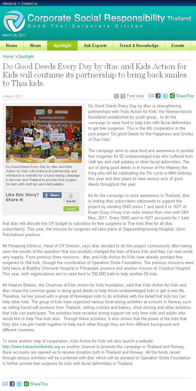 CSR Thailand – Thailand