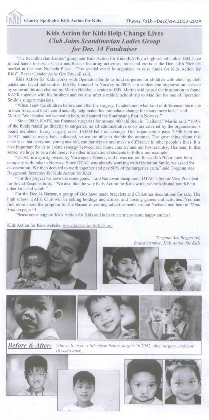 Thani Talk Dec/Jan 2013-2014 – Thailand