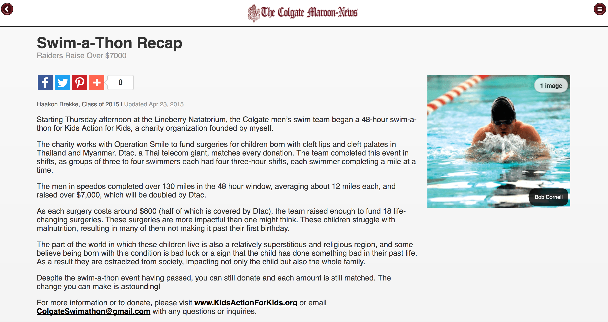 The Colgate Maroon News – USA