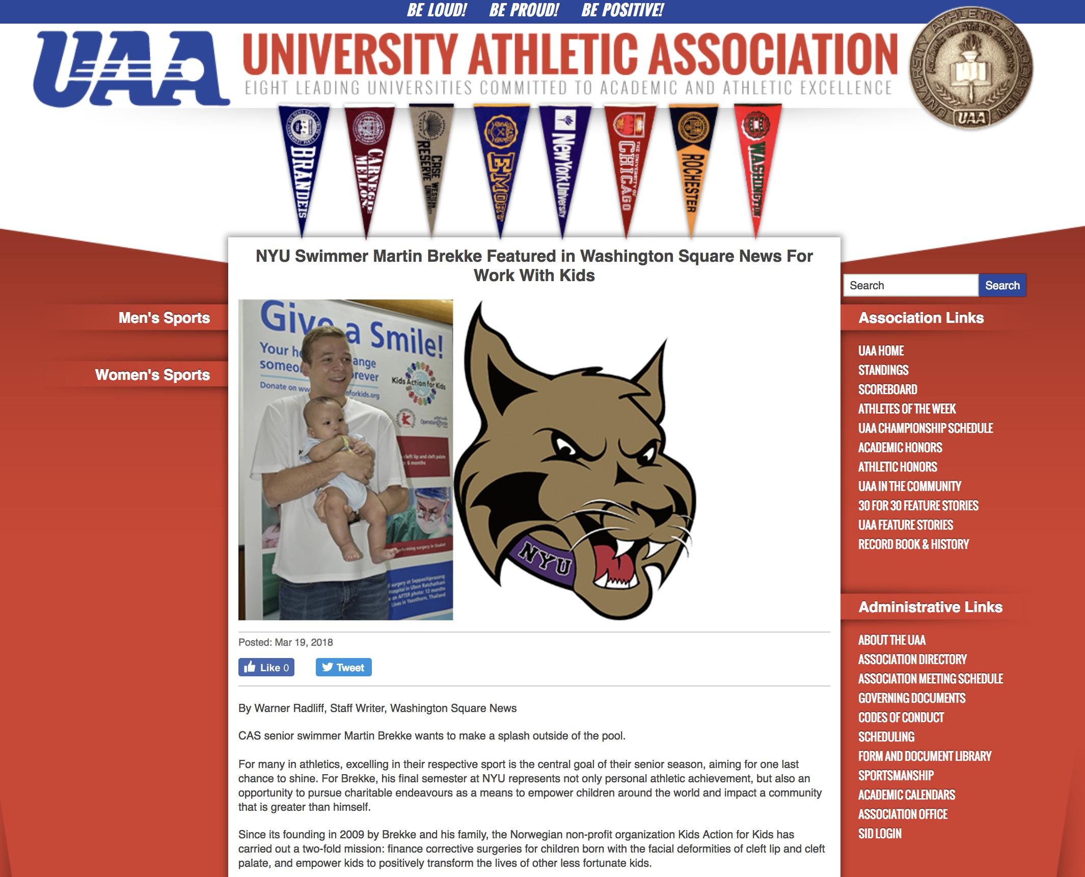 University Athletic Association Sports – USA